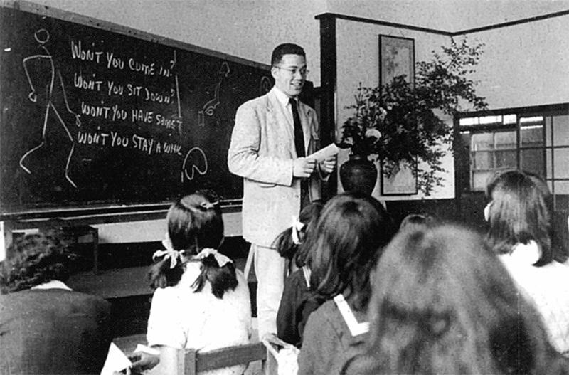ハウスマン宣教師による英会話の授業風景(1951年)