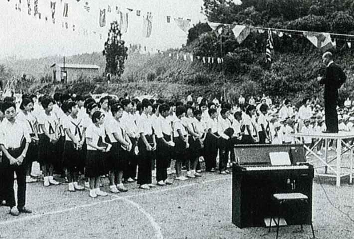 末広校地移転後まもない頃の学園祭(1969年)