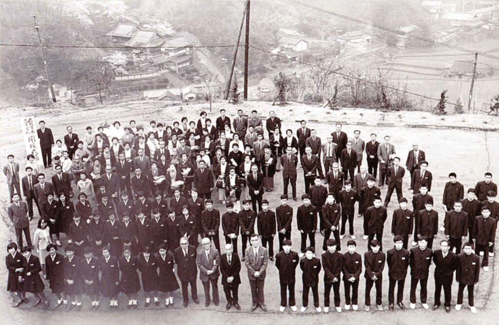 高校開校式(1968年4月)