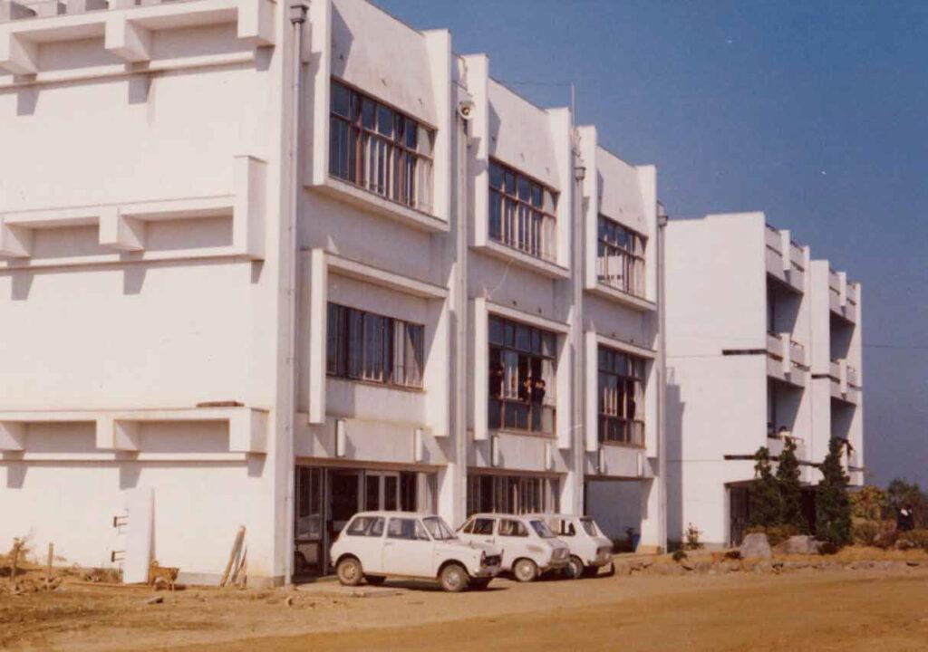 高校開校の頃の末広校舎の風景(1968年)