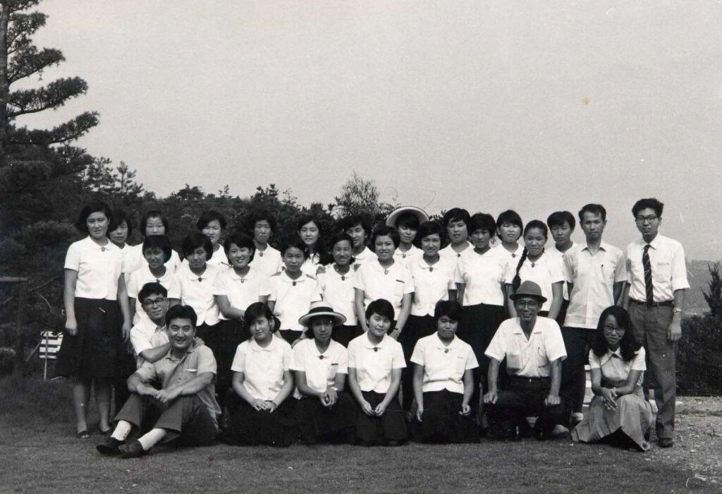 高校夏期修養会 記念写真(1968年)